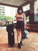 あみごんさんの「【HaNT】マイン 3~5泊用スーツケース /05746(HaNT|ハント)」を使ったコーディネート