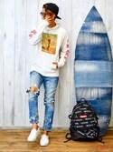 r.y.u.wearさんの(YouthFUL SURF|シュプリーム)を使ったコーディネート