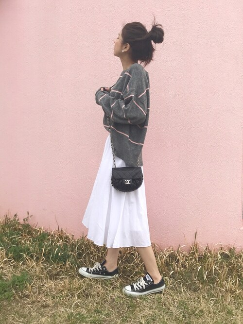 hirorinさんの「サーキュラースカート(丈標準73~77cm)(ユニクロ)」を使ったコーディネート