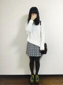yuikaさんの「【村田倫子】ハラコライクハイショクローファー(merry jenny|メリージェニー)」を使ったコーディネート