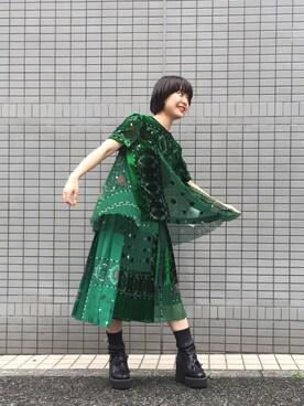 MIDWEST TOKYO WOMEN|mioさんの(Sacai)を使ったコーディネート