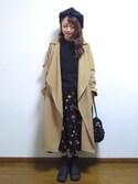 さやさんの「21wシャツコール        ドット・花プリントフレアースカート(CHILD WOMAN|チャイルドウーマン)」を使ったコーディネート