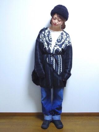 さやさんの「LEVI'S(R) VINTAGE CLOTHING-1950S 701 ジーンズ(Levi's|リーバイス)」を使ったコーディネート