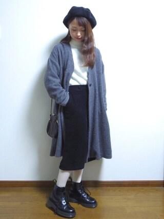 さやさんの「4.5Wコーデュロイ めくりポッケスカート(PAR ICI|パーリッシィ)」を使ったコーディネート