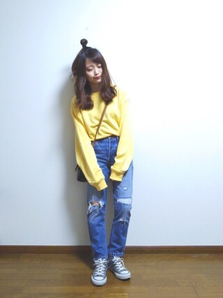 「【先行予約】501(R) SKINNY PACIFIC OCEAN BLUE(501(R) Skinny)」 using this さや looks