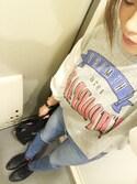 p i  ♡さんの「ニコロゴトート2WAYバッグ【niko and...】(niko and...|ニコアンド)」を使ったコーディネート