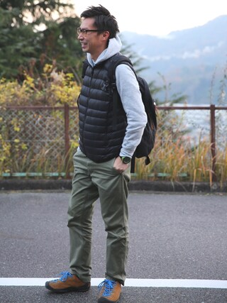tatsuya さんの「MEN ウルトラライトダウンベスト(ユニクロ|ユニクロ)」を使ったコーディネート