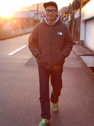 tatsuya さんの「【Champion/チャンピオン】リバースウィーブ(青タグ)プルオーバースウェットパーカー(11.5oz)(Champion チャンピオン)」を使ったコーディネート
