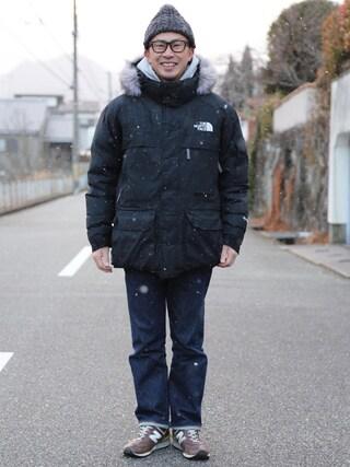tatsuya さんの「【Champion/チャンピオン】リバースウィーブ(青タグ)プルオーバースウェットパーカー(11.5oz)(Champion|チャンピオン)」を使ったコーディネート