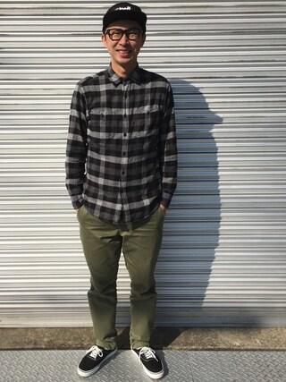 tatsuya さんの「MEN ヴィンテージレギュラーフィットチノ(ユニクロ ユニクロ)」を使ったコーディネート