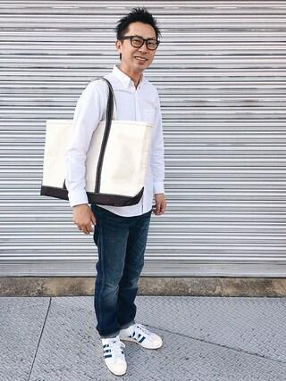 tatsuya さんの「オックスフォードシャツ(長袖)(ユニクロ|ユニクロ)」を使ったコーディネート
