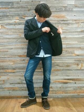 SHERLOCKさんの「【BACK NUMBER】テーラードジャケット(Right-on|ライトオン)」を使ったコーディネート