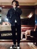 MasaakiOoueさんの「NIKE ジョーダン ジャンプマン ヘッドバンド【SP】(NIKE|ナイキ)」を使ったコーディネート