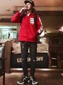 MasaakiOoueさんの「ロゴ コーチジャケット ナイロンジャケット アウター(8(eight)|エイト)」を使ったコーディネート
