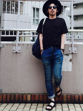 MasaakiOoueさんの「ロングブリムハット【HARE】(HARE|ハレ)」を使ったコーディネート