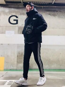 MasaakiOoueさんのダウンジャケット/コート「GA マウンテンダウンジャケット(GALLIS ADDICTION ガリスアディクション)」を使ったコーディネート