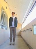 maruさんの「フライトジャケット(ユニクロ|ユニクロ)」を使ったコーディネート