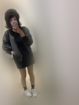 haruka➶♡さんの「【X-girl×OPENING CEREMONY/オープニングセレモニー】 LOGO KNAPSACK(X-girl|エックスガール)」を使ったコーディネート