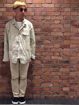 と んさんの(10 by juha stable garments|テンバイユハ ステーブルガーメンツ)を使ったコーディネート