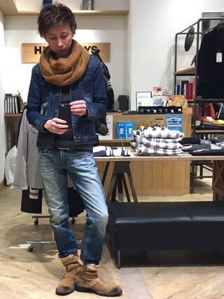 Daisuke Morimotoさんの「裏毛スウェットデニムジャケット(RATTLE TRAP|ラトルトラップ)」を使ったコーディネート