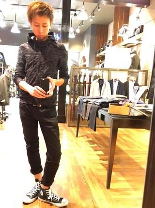 Daisuke Morimotoさんの「フルジップパーカ(NICOLE CLUB FOR MEN|ニコルクラブフォーメン)」を使ったコーディネート