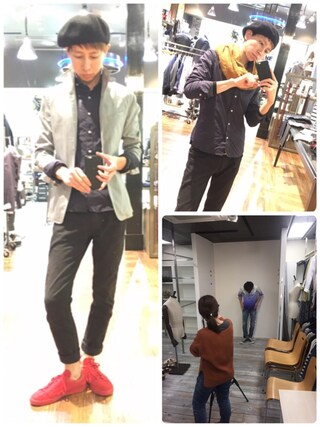 Daisuke Morimotoさんの「ホリゾンタルカラーシャツ(NICOLE CLUB FOR MEN|ニコルクラブフォーメン)」を使ったコーディネート