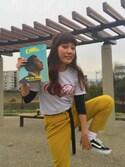 enri yamadaさんの「Coca-Cola & Fruit of The Loom by  BEAMS BOY / プリント Tシャツ(BEAMS BOY ビームスボーイ)」を使ったコーディネート