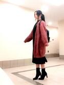 sayaka さんの「カードボードスウェットトップス(LE CIEL BLEU|ルシェルブルー)」を使ったコーディネート