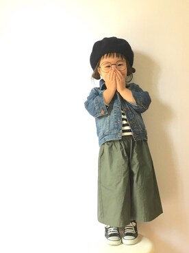 m i h a r u ♡さんの「CONVERSE / CHILD ALL STAR N Z OX(CONVERSE|コンバース)」を使ったコーディネート