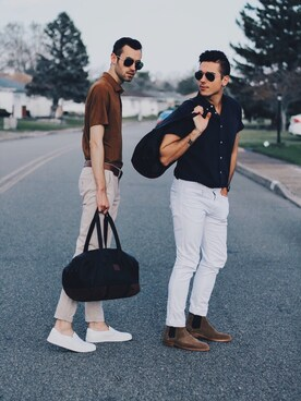 「Rag & bone Button-Down Collar Striped Cotton Shirt(rag & bone)」 using this Alex & Mike looks