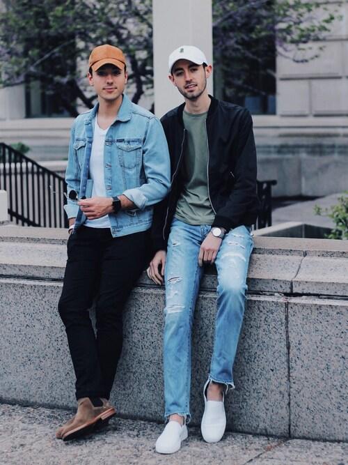 「Men's Topman Faux Suede Baseball Cap - Brown(TOPMAN)」 using this Alex & Mike looks