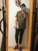 Masato Kurosakiさんの「オープンカラーシャツ(半袖)(ユニクロ|カシラ)」を使ったコーディネート