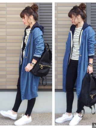 「CONVERSE / CVS ALL STAR OX(CONVERSE)」 using this miho🅰ニコ looks