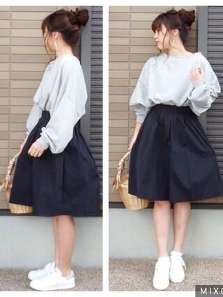 「裏毛ゆったりプルオーバー(natural couture)」 using this miho🅰ニコ looks