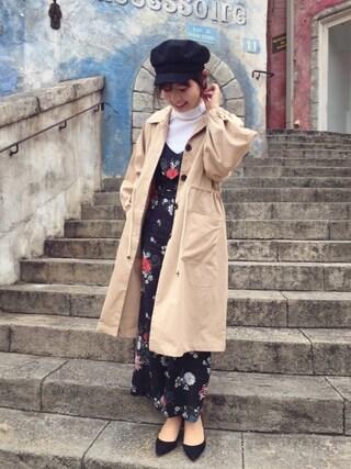 RANDA 本社|nakamura sayakaさんの「ポインテッドトゥプレーンパンプス(RANDA|ランダ)」を使ったコーディネート