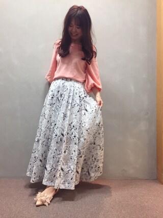 RANDA 本社|nakamura sayakaさんの「タックワイドパンツ(RANDA|ランダ)」を使ったコーディネート