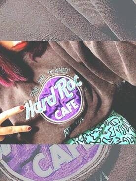 もよさんの(Hard Rock Cafe|ハードロックカフェ)を使ったコーディネート