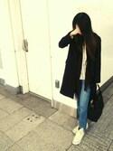 ena... ◡̈⃝ ⋆♬*さんの「カシミヤコンストール/728775(BLISS POINT|ブリスポイント)」を使ったコーディネート