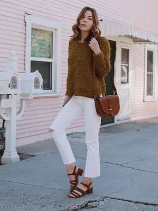 「Madewell Crop Wide Leg Jeans (Pure White)(Madewell)」 using this PrettyLittleFawn looks