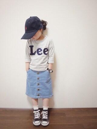 花音さんの「【LEE】ロゴロンT(Lee|リー)」を使ったコーディネート