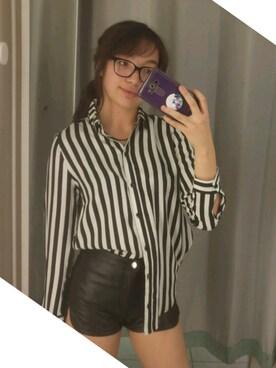 「H&M Imitation Leather Shorts(H&M)」 using this asho looks