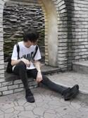 Fuga Sakakiさんの「MELINE(OLIVER PEOPLES|アディダス)」を使ったコーディネート