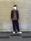 わたつさんの「パイピングワイドパンツ(UNITED TOKYO|ユナイテッドトウキョウ)」を使ったコーディネート