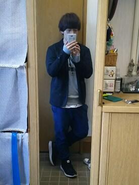 「MEN リネンコットンスタンドカラーシャツ(半袖)(ユニクロ)」 using this まい looks