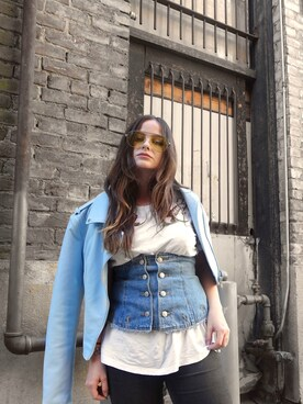 「FOREVER 21 Faux Leather Moto Jacket(Forever 21)」 using this ANDA BREA looks