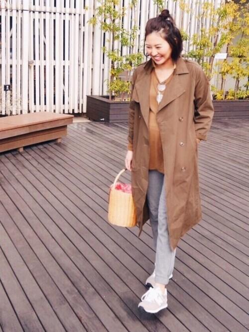 【N.(N. Natural Beauty Basic)公認】UEMURA   AYANOさんのスニーカー「《NEW BLANCE》ML574スニーカー(N.(N. Natural Beauty Basic)|エヌ(エヌ ナチュラルビューティーベーシック) )」を使ったコーディネート