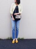 UEMURA   AYANOさんの「ESTNATION ファンシーツイードジャケット(ESTNATION|エストネーション)」を使ったコーディネート