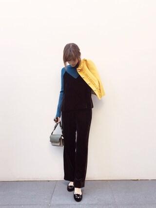 「刺繍タートルプルオーバー(Lily Brown)」 using this 紗栄子 looks