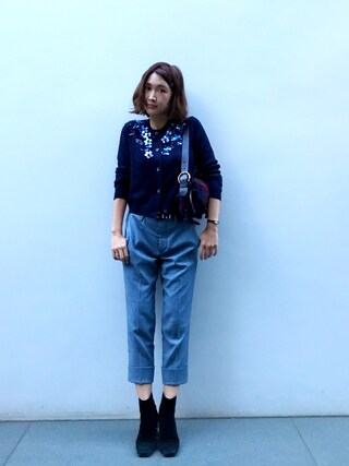 「Miu Miu Crystal-Embellished Suede Ankle Boots(Miu Miu)」 using this 紗栄子 looks