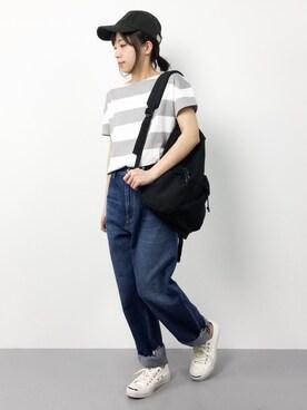ZOZOTOWN|ayumiさんの「Sonny Label カットオフワイドボーイズデニム(URBAN RESEARCH Sonny Label)」を使ったコーディネート